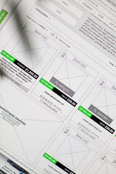 Interactive Axure Wireframes