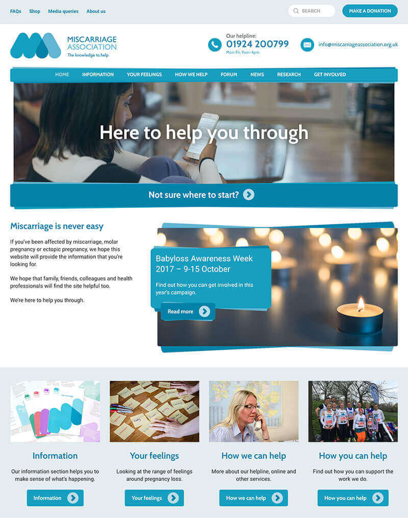 Miscarriage Association homepage